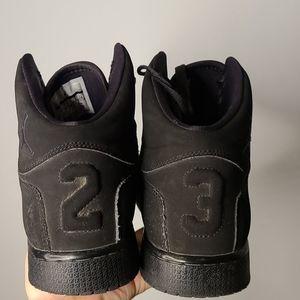 Nike Junior Jordan 1 flight black shoes
